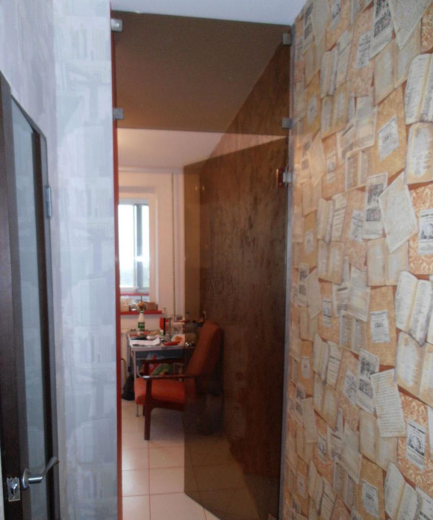 Дверь на кухню стекло бронза