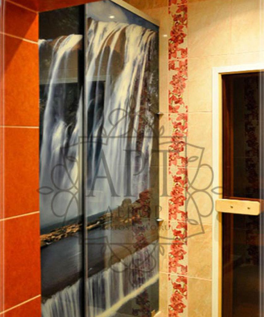 Раздвижные двери триплекс в душ