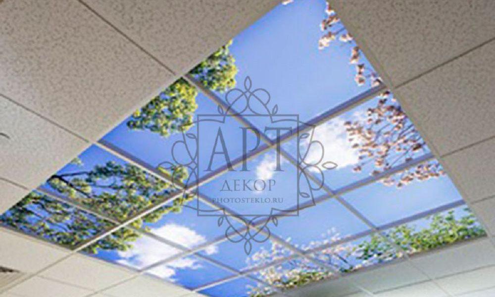 Потолок из стекла Армстронг