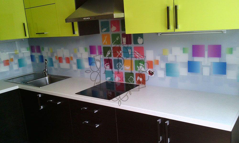 Абстрактные квадраты на белом фоне