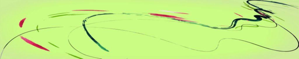 цветные линии на зеленом фоне