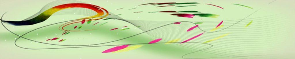 разноцветные линии на зеленом фоне