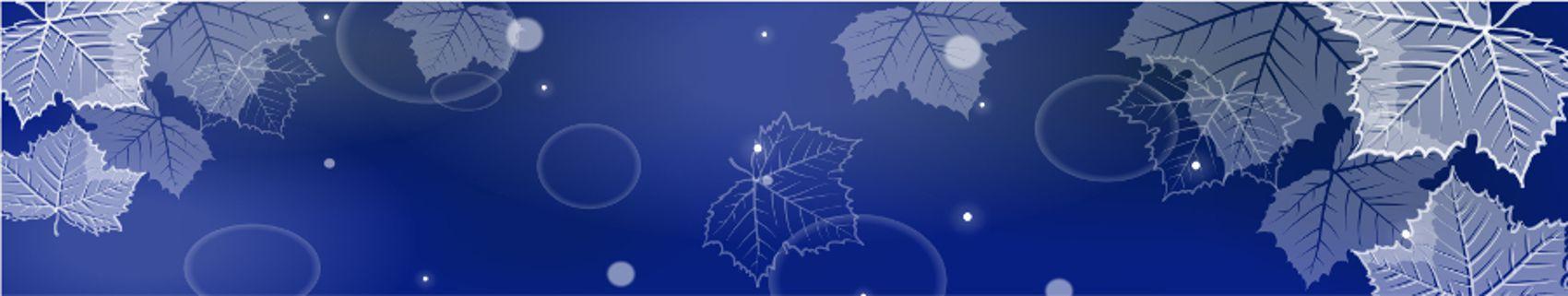 кленовые листья на синем фоне