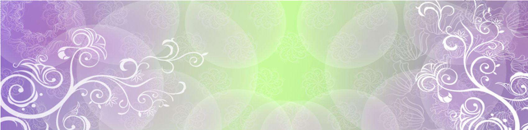 орнамент на зелено-фиолетовом фоне