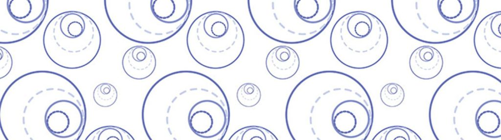 синие круги на белом фоне