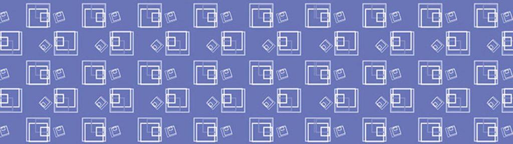 белые квадраты на фиолетовом фоне