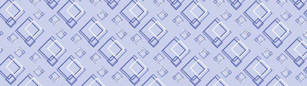 белые и синие квадраты на голубом