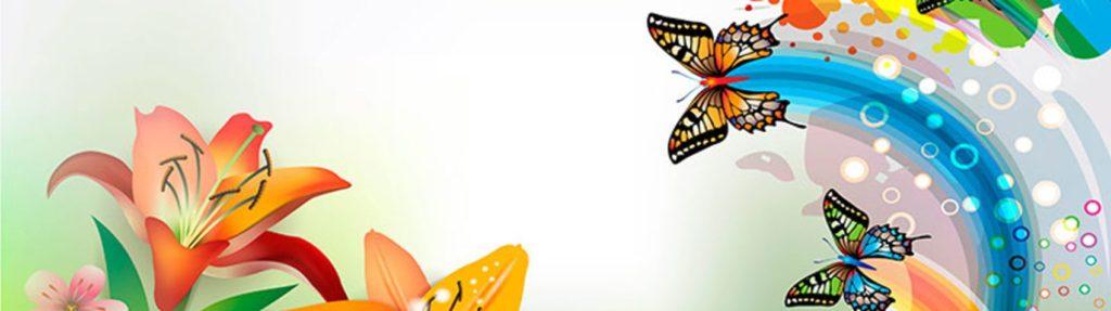 цветы бабочки