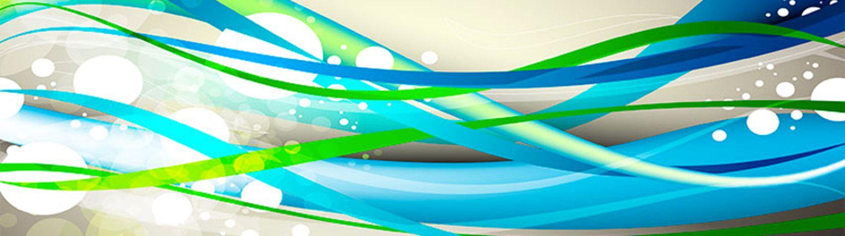голубые линии волны