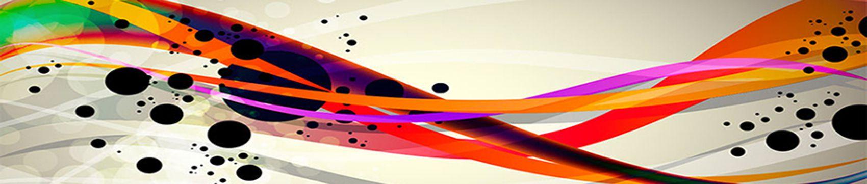 волны линии разноцветные