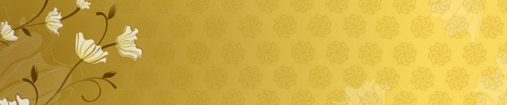 белые цветы на золотистом фоне