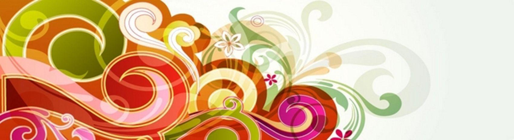 разноцветные завитушки
