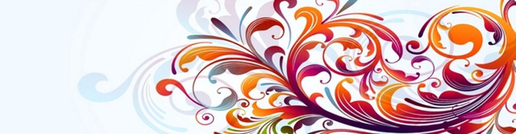 разноцветная абстрактная ветка