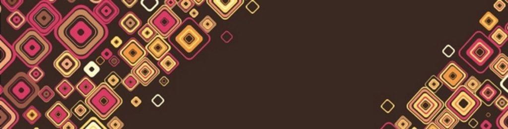 цветные ромбы на коричневом фоне
