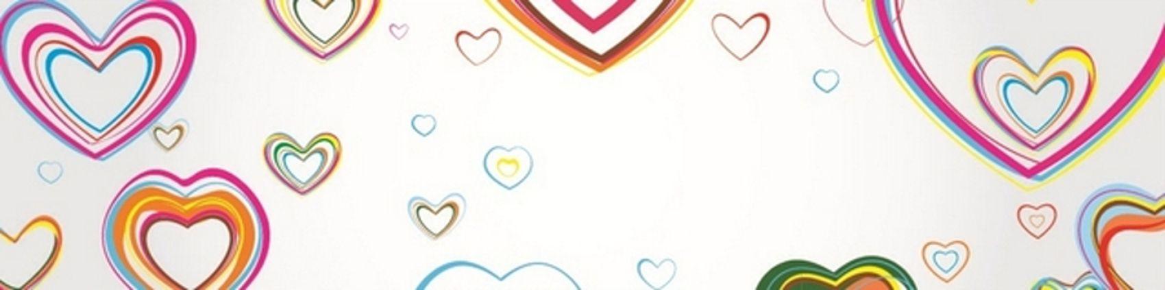 цветные сердечки