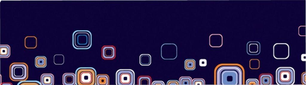 геометрические фигуры на синем фоне