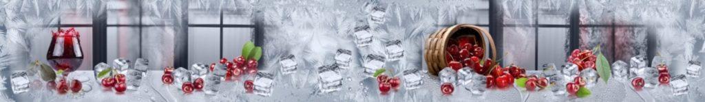 Кубики льда с вишней