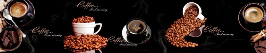 Чашки кофе на черном фоне