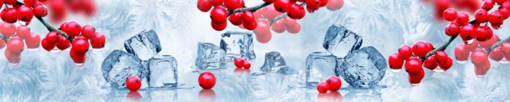 Рябин с кубиками льда