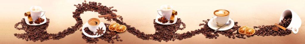 Россыпь кофе и чашки