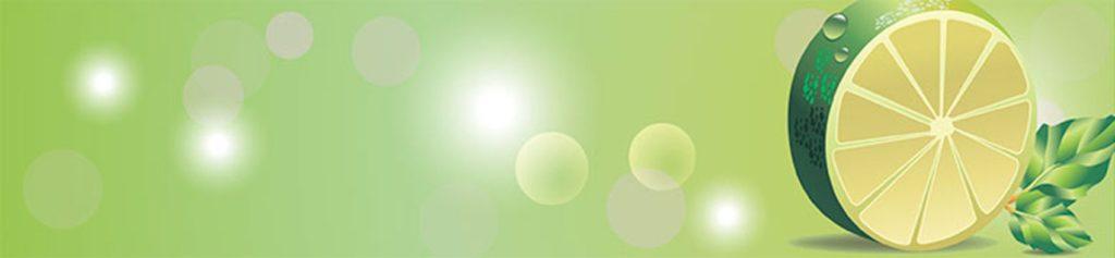 Лайм на зеленом фоне