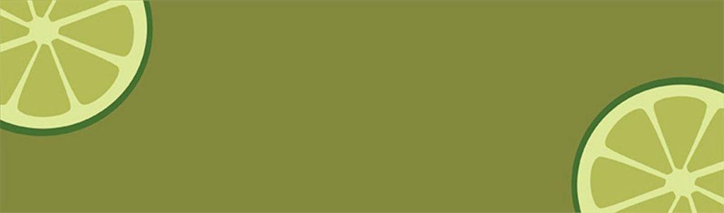 Лаймы на зеленом фоне