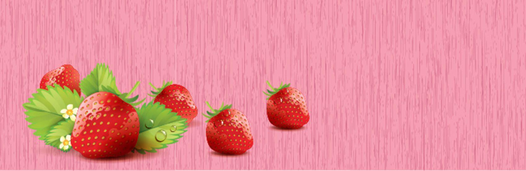 Клубника на розовом фоне