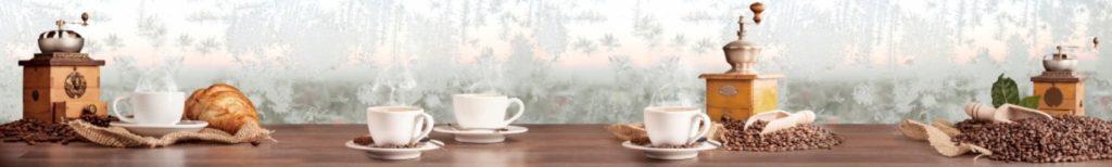 Чашки кофе на фоне иния
