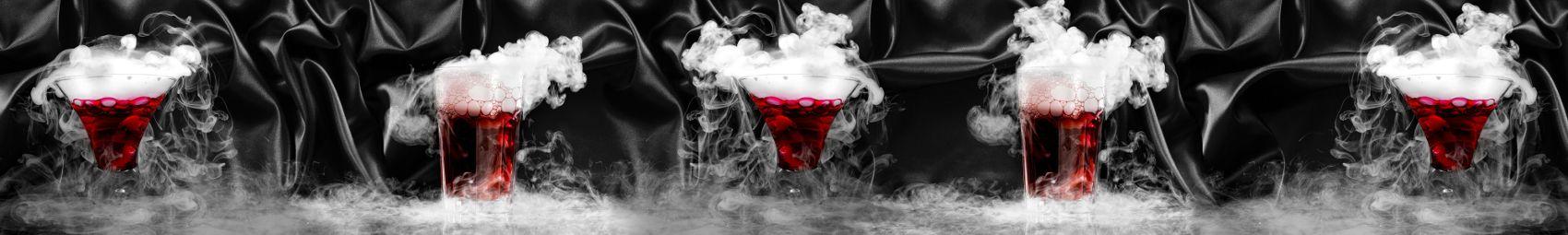 Красные напитки с паром