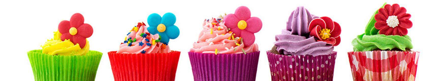 Пирожное с цветочками