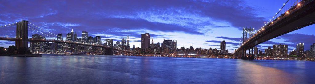 Нью-Йорк Бруклин на рассветом