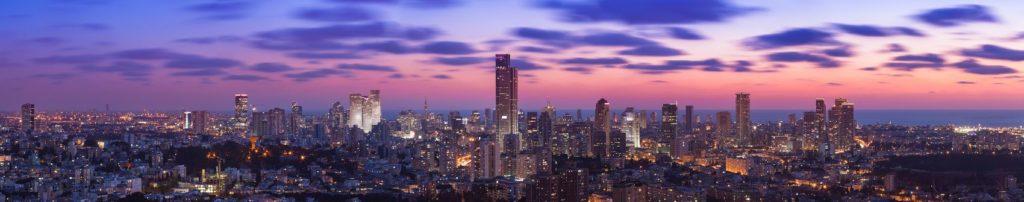 Тель-Авив на закате Израиль