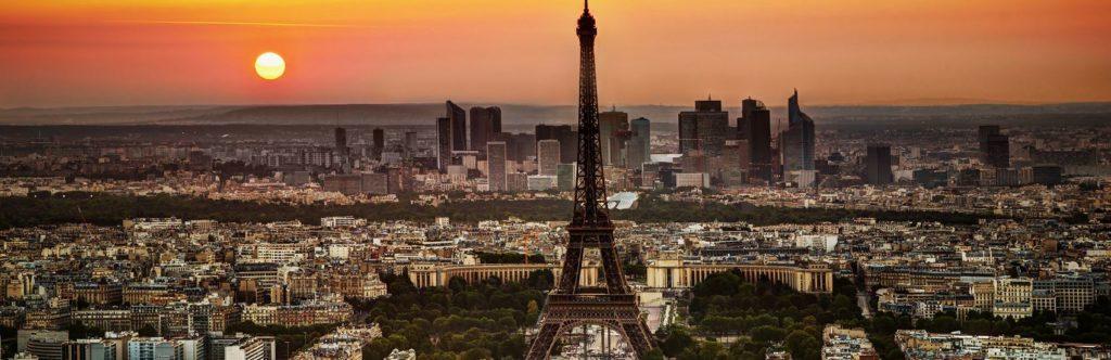 Эйфелева башня Париж на закате