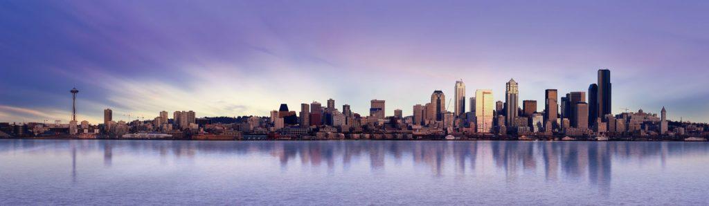 Фиолетовый восход в Сиэтле