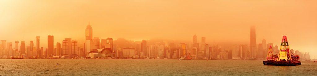 Гонконг в оранжевом тумане