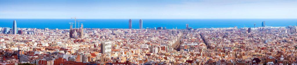 Барселона с верху днем