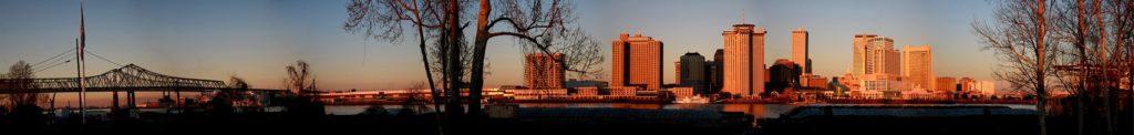 Рассвет в Луизиане США