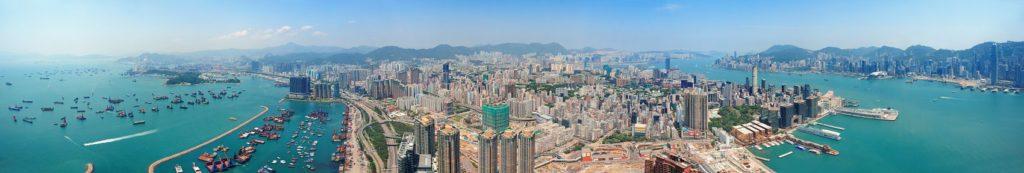 Вид на Гонконг с верху