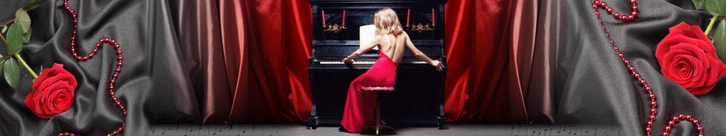 девушка пианино розы