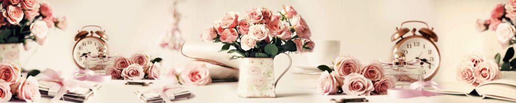 коллаж розы книги часы