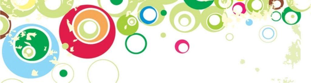 Цветные круги абстракция