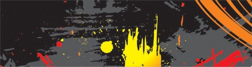 Желтые черные красные кляксы