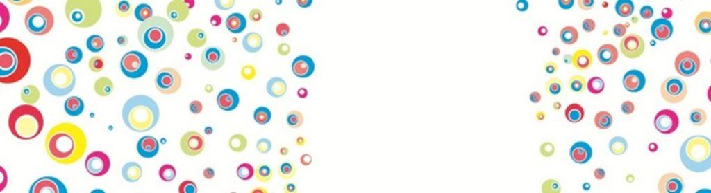 Разноцветные шары на белом фоне
