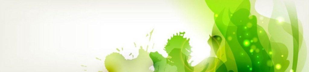 Зеленые кляксы на белом фоне