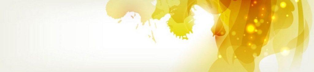 Золотые желтые кляксы на белом фоне