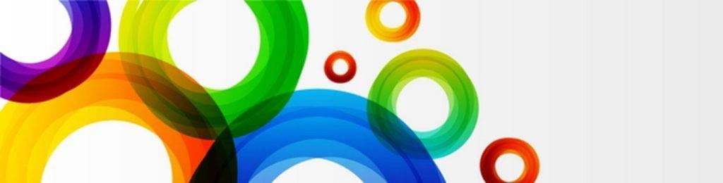 Круги синий зеленый красный