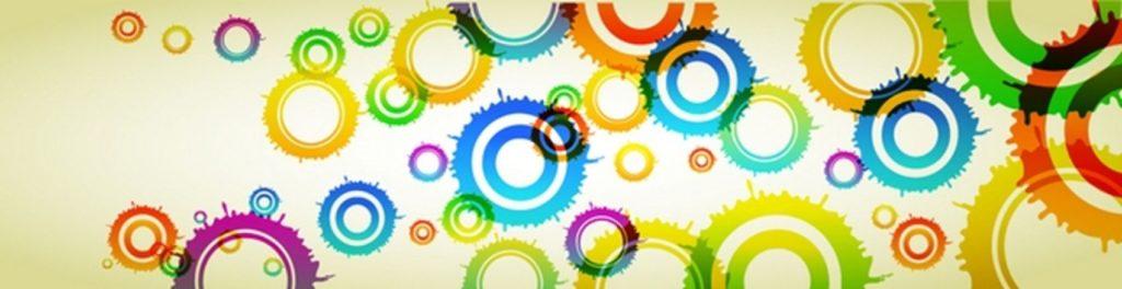 Радужные круги и кляксы