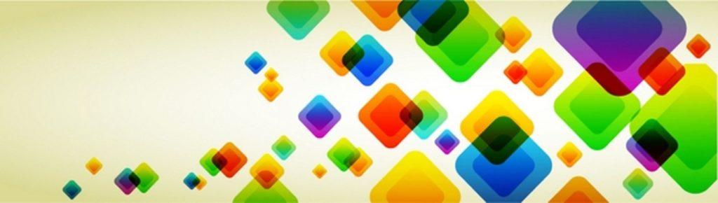 Разноцветные ромбы абстракция