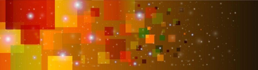 Цветные квадраты на коричневом фоне блики