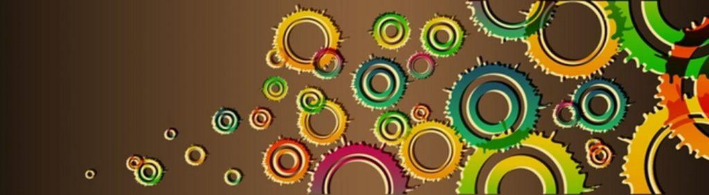 Кляксы круги на коричневом фоне